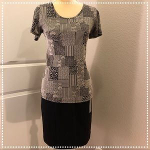 OUTFIT Ellen Tracy Skirt NWT and LuLaRoe Top EUC